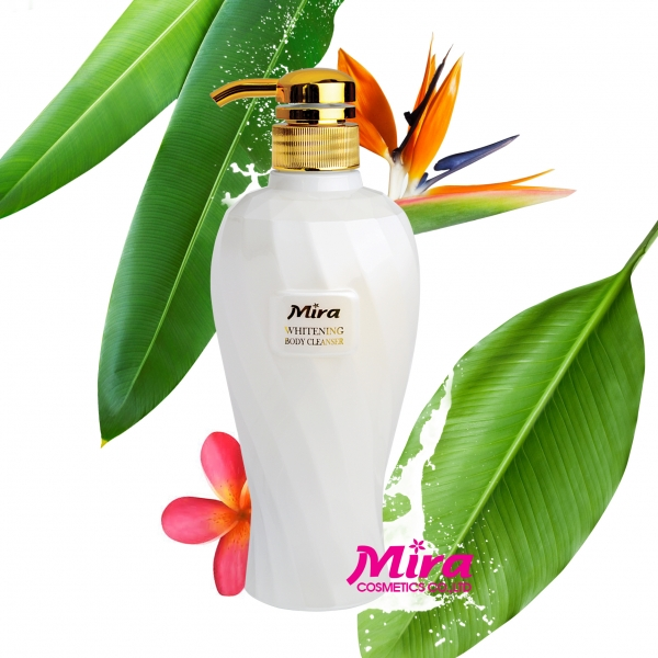 Sữa tắm dưỡng trắng da tinh chất sữa & hương hoa cỏ Mira