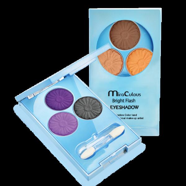 Phấn mắt 3 ô siêu mịn MiraCulous Bright Flash Eyeshadow
