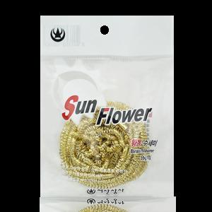 Búi cước rửa chén đa năng siêu bền Sun Flower (màu vàng) 35g