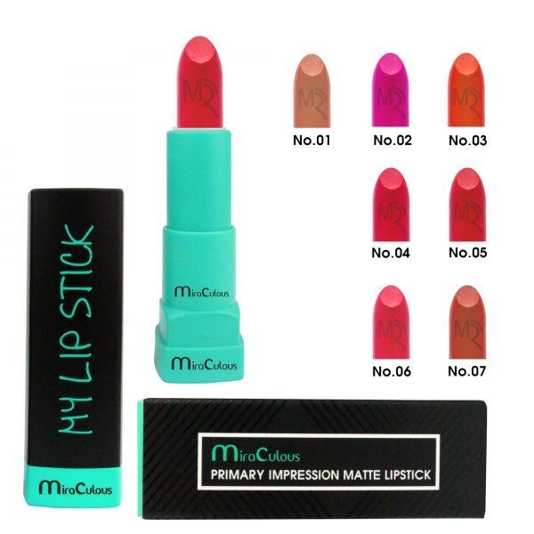 Son nhung lì dưỡng môi Mira Primary Impression Matte Lipstick