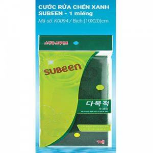 Subeen Multi Purose Scrubeer ( miếng rửa chén xanh 1 miếng )