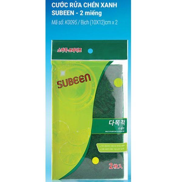Subeen Multi Purose Scrubeer ( miếng rửa chén xanh 2 miếng )